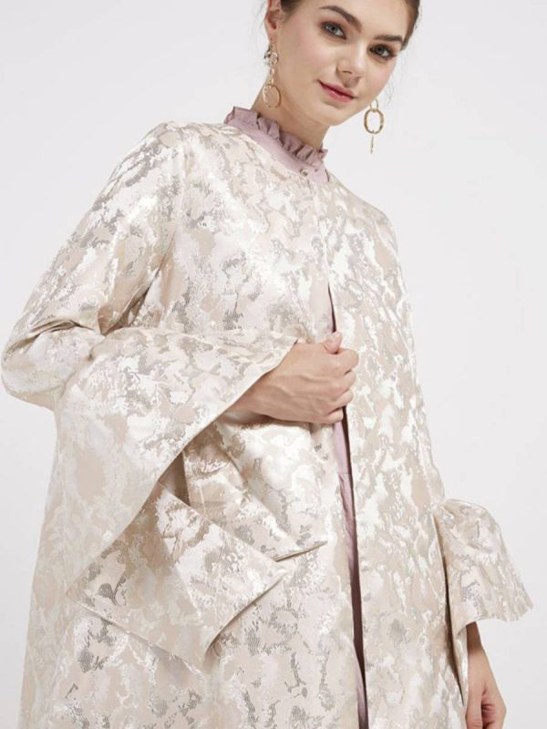 Bell Sleeves Coat Nude Gold (2)