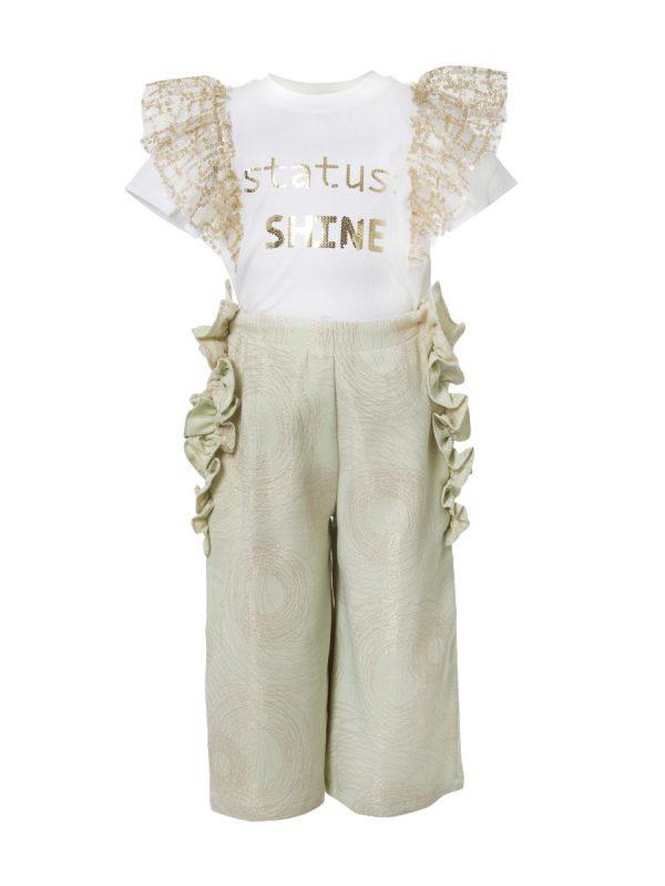 Women Trouser LAYERED FLORAL PANTS