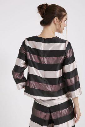 Striped Top Pink/Gold/Black