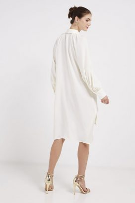 Long Sleeves Tunic Off White