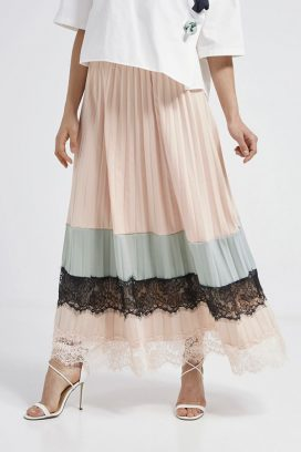 Lace Skirt Pink/Mint/Black