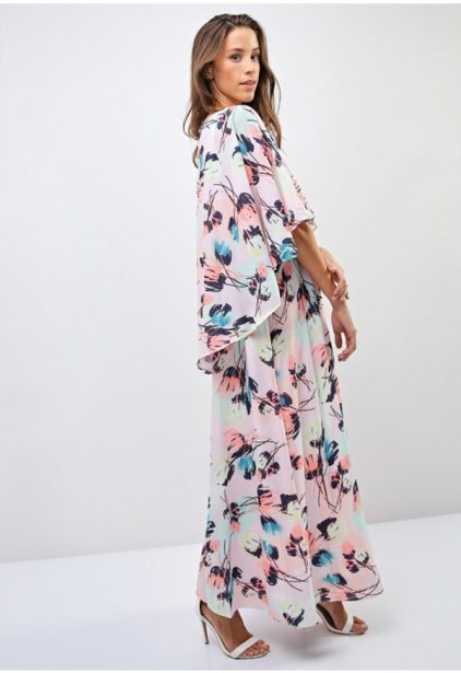 Floral Detail Overlay Dress