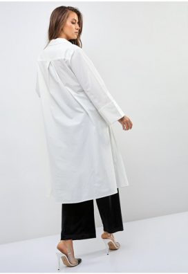 Folded Sleeve Tunic Shirt