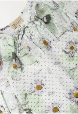 Golden Daisy Ruffle Kids Top