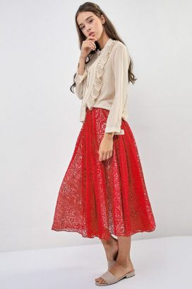 Bangkok Night Lace Skirt
