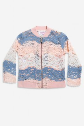 Sleeve Lace Insert Kids Jacket