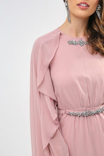 Embellished Flared Dress
