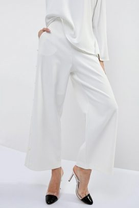 Embellished Wide Leg Trouser