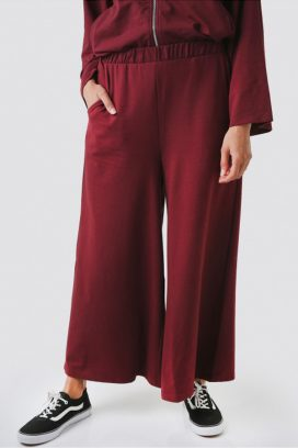 Marron  Wide Legs Trouser