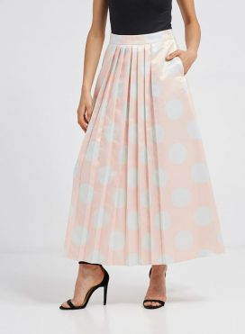 Printed Maxi Skirt Pink Mint