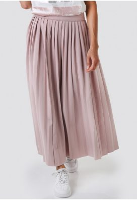 Rosy Pleated Full Skirt