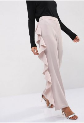 Ruffle Side Detail Trouser