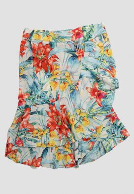 Floral Garden View Kids Skirt