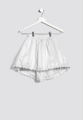 Lace Trim Kids Skirt
