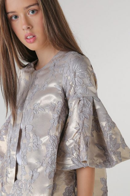 Metallic Brocade Youth Top