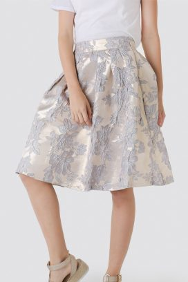 Brocade Midi Youth Skirt