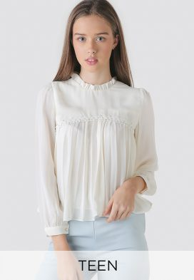 Ruffle Neck Youth Top