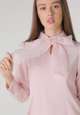 Pink Blush Bow Tie Youth Top