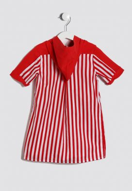 Striped Hoodie Kids Dress