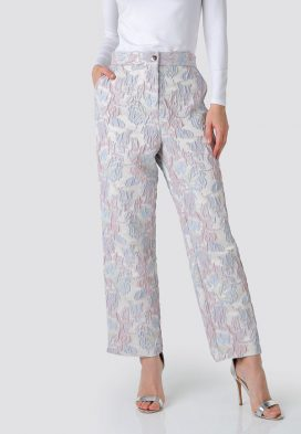 Embossed Detail Trousers
