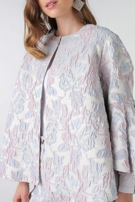 Embossed Detail Cape