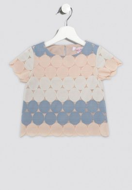 Polka Dot Net Kids Top