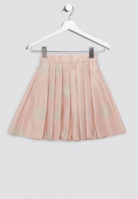 Polka Dot Pleated Kids Skirt