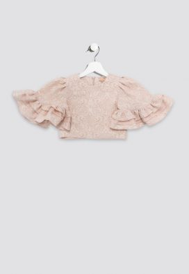 Lace Bell Sleeves Kids Top