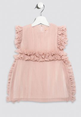 Ruffle Edge Kids Dress