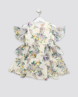 Floral Fantasy Kids Dress