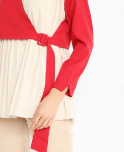 Pleated Buckled Side Top
