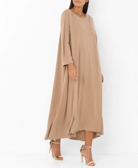 Flare Hem Long Sleeve Dress