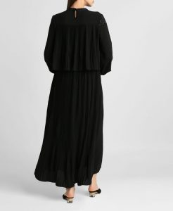 Black Ruffled Hem Dress