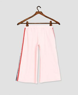 Girls Pink Side Striped