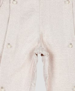 Rose Gold Faux Pearl Pants