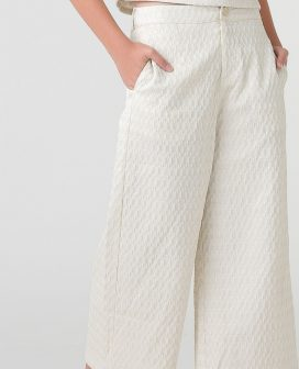 Oval Textured Youth Trouser