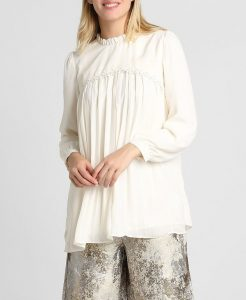 Off-White Pleated Blouse