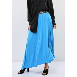 Waistband Detail Skirt Blue