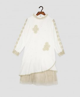 Ancient Empire Pearl Dress White