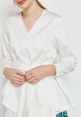 Wrap Front Self Tie Top