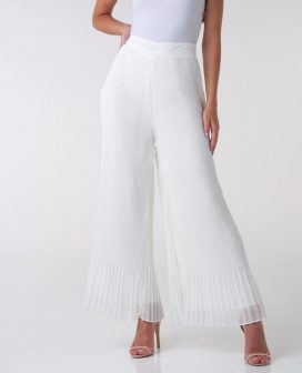 Wide Plated Trouser