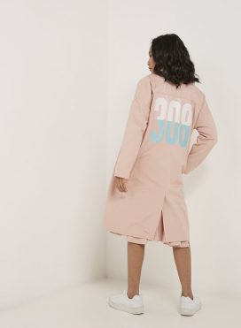 Collared Neck Jacket Peach