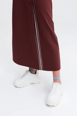 Jogger Skirt Box Pleat Slit