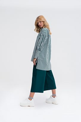 Strapped Green Palazzo Trouser