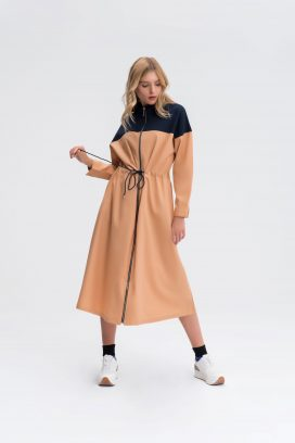Panelled Sporty Coat Dress
