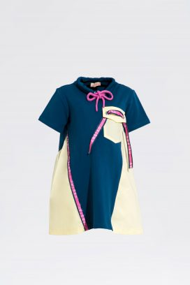 Anotah Color blocked sporty dress