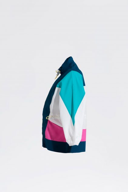 Paneled Windbreaker Jacket