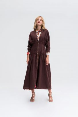 Full Sleeves Buttoned Dress