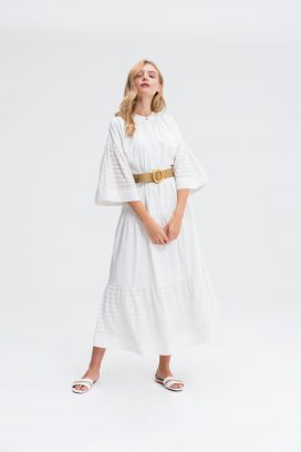Bell Sleeve Tiered Tent Dress