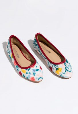 Velvet Printed Shoes